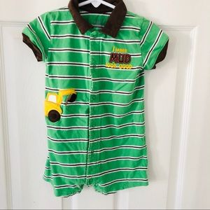 Green construction 24 month romper